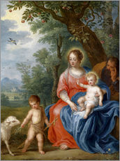 Vinilo para la pared  The Holy Family with John - Jan Brueghel d.J.