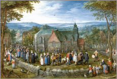 Vinilo para la pared  Village wedding - Jan Brueghel d.Ä.