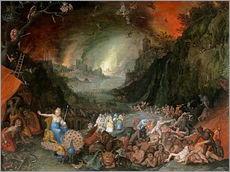 Vinilo para la pared  Juno in the Underworld - Jan Brueghel d.Ä.