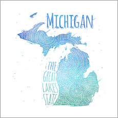 Vinilo para la pared michigan