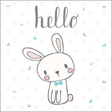 Cuadro de plexi-alu  Hello Bunny - Kidz Collection