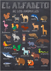 Vinilo para la pared  Alfabeto de los Animales - Español - Kidz Collection
