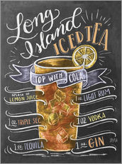 Vinilo para la pared  Receta de long island ice tea (inglés) - Lily & Val