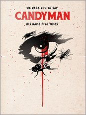 Vinilo para la pared  Alternative candyman movie art print - 2ToastDesign