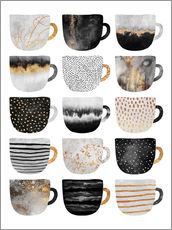 Vinilo para la pared Pretty Coffee Cups 3   White