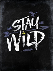 Vinilo para la pared  Stay Wild - Barrett Biggers