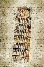 Vinilo para la pared  THE LEANING TOWER OF PISA - Michael artefacti