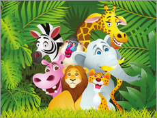 Vinilo para la pared  My jungle animals - Kidz Collection