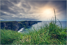 Vinilo para la pared  View over the cliffs of Moher, Ireland
