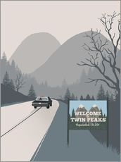 Vinilo para la pared  Welcome to Twin peaks - 2ToastDesign