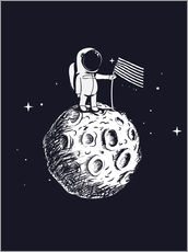 Vinilo para la pared The first man on the moon