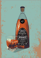 Vinilo para la pared  Whiskey bottle and glass