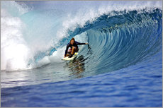 Vinilo para la pared  Surfing blue paradise island wave - Paul Kennedy