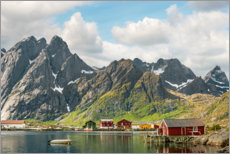 Vinilo para la pared  Mountain Landscape | Lofoten Islands | Norway - Olaf Protze