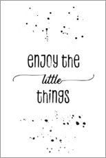 Vinilo para la pared  Enjoy the little things - Melanie Viola