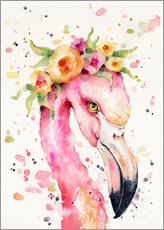 Cuadro de plexi-alu  Little flamingo - Sillier Than Sally