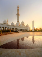Cuadro de plexi-alu  Sheikh Zayed mosque in golden robe