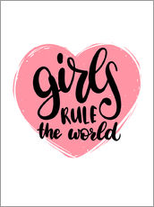 Vinilo para la pared Girls rule the world