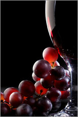 Cuadro de plexi-alu  Red grapes and glass of wine - Johan Swanepoel