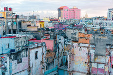 Vinilo para la pared  Authentic view of a street of Old Havana