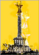 Vinilo para la pared  Berlin Victory Column (on Yellow) - JASMIN!