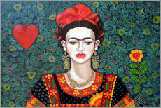 Vinilo para la pared  Frida, queen of hearts closer - Madalena Lobao-Tello