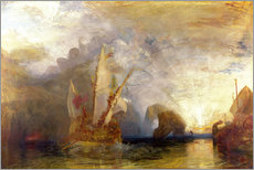 Vinilo para la pared  Ulises se burla de Polifemo - Joseph Mallord William Turner