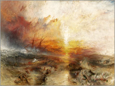 Vinilo para la pared  El barco de esclavos - Joseph Mallord William Turner
