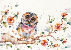 Vinilo para la pared  Yep Cute Is My Middle Name (baby Owl)  - Sillier Than Sally