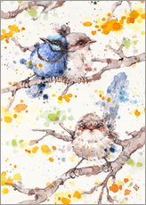 Vinilo para la pared  Family Life (fairy Wren) - Sillier Than Sally
