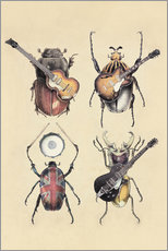 Vinilo para la pared  Meet the Beetles 2 Poster Lounge - Eric Fan