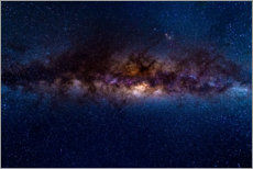 Cuadro de plexi-alu  The Milky Way galaxy, details of the colorful core. - Fabio Lamanna