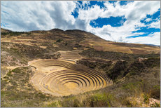 Vinilo para la pared  The archaeological site at Moray, travel destination in Cusco region and the Sacred Valley, Peru. - Fabio Lamanna