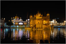 Cuadro de plexi-alu  The Golden Temple by night, Amritsar, India - Fabio Lamanna
