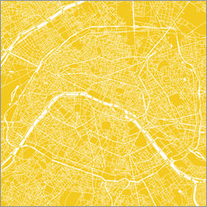 Cuadro de plexi-alu  Mapa de paris - 44spaces