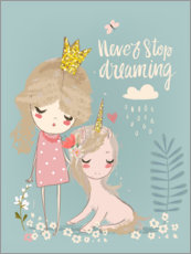 Lienzo  Never stop dreaming - Kidz Collection