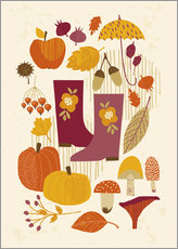 Vinilo para la pared  autumn days - Kidz Collection
