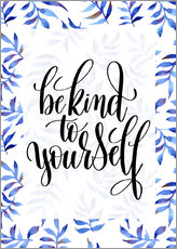 Cuadro de plexi-alu  Be kind to yourself - Typobox