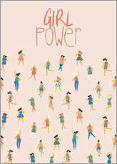 Cuadro de plexi-alu  Girl power