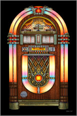 Cuadro de plexi-alu  Vintage Jukebox - Michael Fishel
