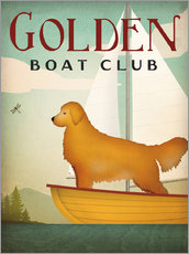 Vinilo para la pared  Golden Boat Club - Ryan Fowler