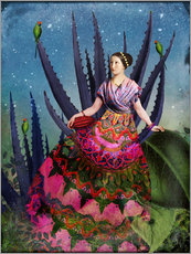 Vinilo para la pared  Blue Agave and Cacao - Catrin Welz-Stein