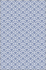 Vinilo para la pared Fish scales pattern in blue