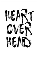 Vinilo para la pared  heart over head - Ohkimiko