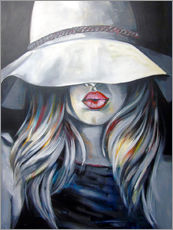 Vinilo para la pared Woman with hat
