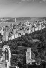 Vinilo para la pared  USA, New York, New York City, elevated view of the Upper West Side of Manhattan and Central Park fro - Walter Bibikow
