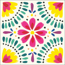 Vinilo para la pared Flower Fiesta X