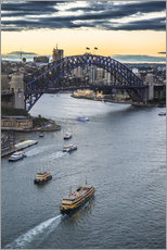 Michael Runkel - View over Sydney harbour after sunset, Sydney, New South Wales, Australia, Pacific