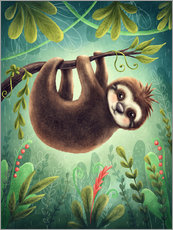 Vinilo para la pared  Little Sloth - Elena Schweitzer