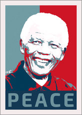 Cuadro de plexi-alu  Nelson Mandela Peace and Hope - Alex Saberi